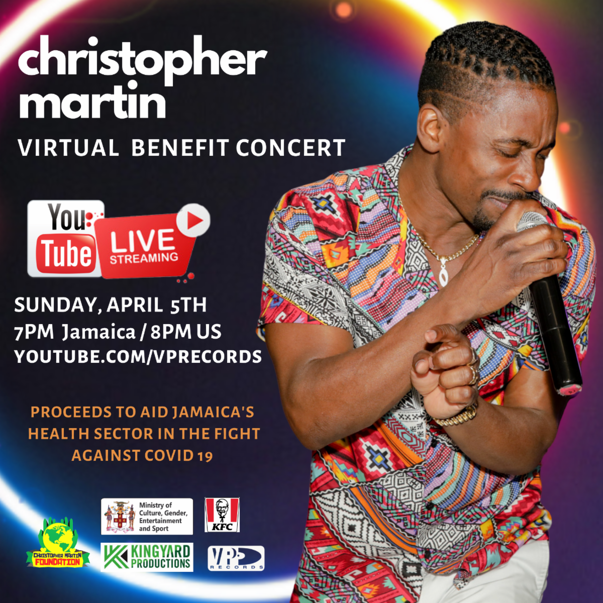 Christopher Martin And Kfc Christmas Album 2020 Christopher Martin Presents Live Stream Performance on VP Records