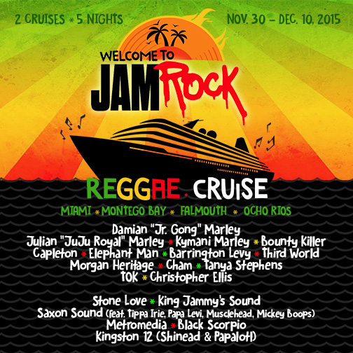 Welcome To Jamrock Reggae Cruise Announces Plans For 2015