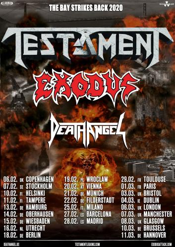 Best Thrash 2020 Testament , Exodus and Death Angel team up for