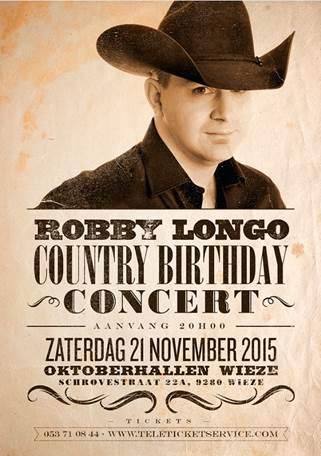 Robby Longo Gaat Verjaardag Vieren Met Country Birthday Concer
