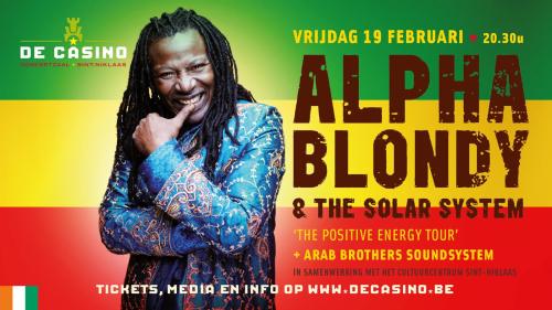 Alpha blondy speelt exclusief clubconcert in de casino frontview magazine - Operation coup de poing alpha blondy ...